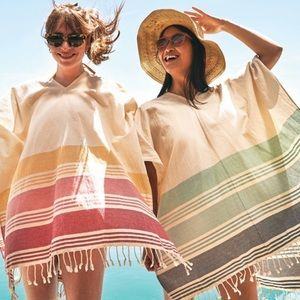 Tribe Alive handwoven caftan coverup NWT